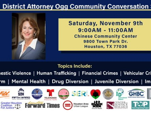 District Attorney Ogg Community Conversation Series