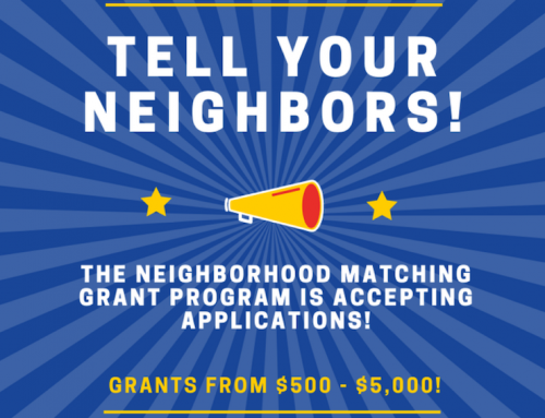 The Neighborhood Matching Grant Program is Accepting Applications