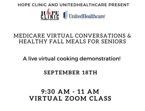 HOPE Clinic / Free Virtual Cooking Lessons for Seniors
