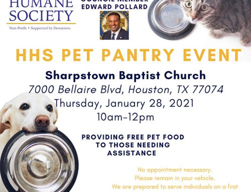 AliefLife: HHS Pet Pantry Event, Jan. 28