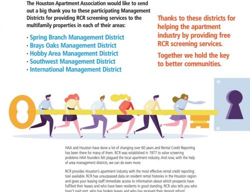 Houston Apartment Association Thanks Southwest Management District
