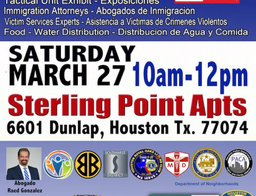 HPD: Alianza Against Crime, March 27