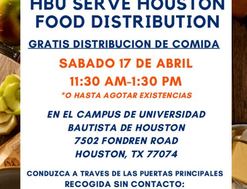 HBU Serve Houston Food Distribution, April 17
