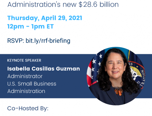 Invitation: National Briefing w/ SBA on $28.6B Restaurant Revitalization Fund, April 29