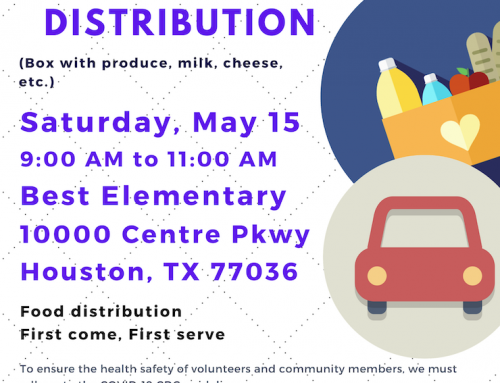 Flyer for Food Distribution at Best Elementary, May 15