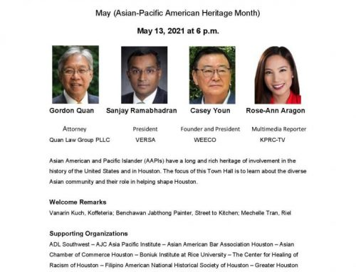 AJC: Getting to Know the Asian Community Town Hall, May 13