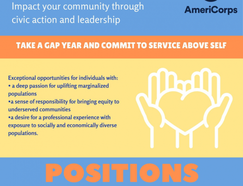 College-bound individuals are encouraged to consider spending a 'gap year' with Sewa International USA and AmeriCorps.