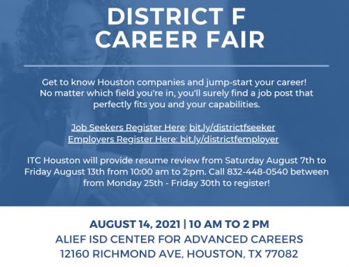 District F Career Fair, Aug. 14