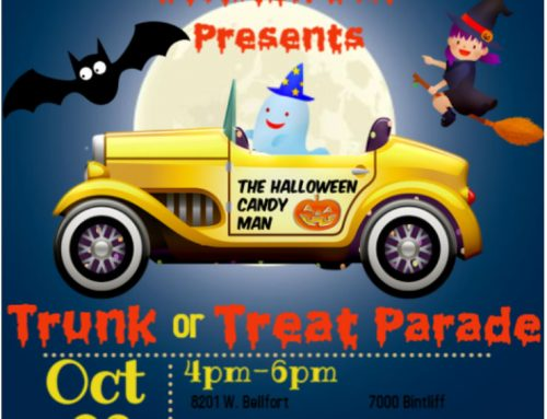 HPD South Gessner Division DRT: Trunk or Treat Parade, Oct. 29